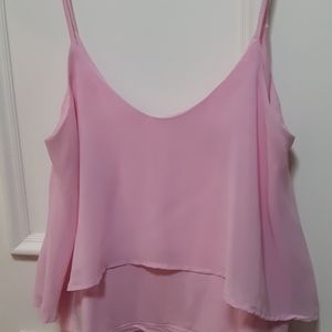 3 for 20! 🛍 pink layered tank top
